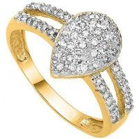 BEAUTEOUS ! 1/2 CARAT (57 PCS) DIAMOND 10KT SOLID GOLD RING