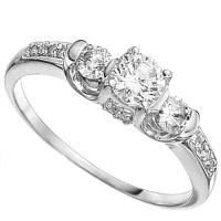 1/2 CARAT (15 PCS) DIAMOND SOLITAIRE 14KT SOLID GOLD ENGAGEMENT RING