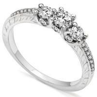 2/3 CARAT (23 PCS)  DIAMOND SOLITAIRE 14KT SOLID GOLD ENGAGEMENT RING