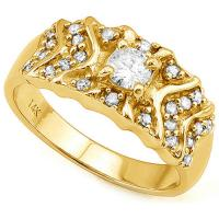 1/2 CARAT (25 PCS)  DIAMOND 14KT SOLID GOLD ENGAGEMENT RING