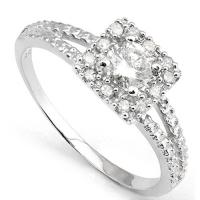 PRETTY ! 1/3 CARAT (13 PCS) DIAMOND SOLITAIRE 14KT SOLID GOLD ENGAGEMENT RING