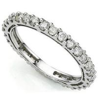 SPLENDID ! 1 CARAT (30 PCS) DIAMOND 14KT SOLID GOLD ETERNITY RING