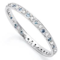 ELEGANT ! 1/4 CARAT (38 PCS) DIAMOND 10KT SOLID GOLD ETERNITY RING