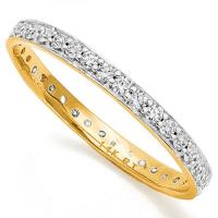 BRILLIANT !  1/4 CARAT (38 PCS) DIAMOND 14KT SOLID GOLD ETERNITY RING