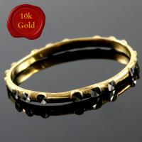 BEAUTIFUL ! UNIQUE DESIGN 10KT SOLID GOLD BAND RING