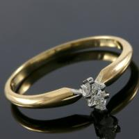 SMASHING ! 1/5 CARAT DIAMOND 14KT SOLID GOLD ENGAGEMENT RING