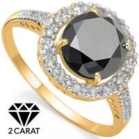 IDEAL ! 2.53 CARAT (17 PCS) DIAMOND SOLITAIRE 14KT SOLID GOLD ENGAGEMENT RING