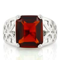 BRILLIANT ! CREATED GARNET 925 STERLING SILVER RING
