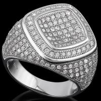 FANTASTIC !  5.82 CARAT (253 PCS) FLAWLESS CREATED DIAMOND 925 STERLING SILVER RING