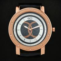 IRRESISTIBLE! STYLISH DIAMOND WATER RESISTANT LEATHER UNISEX WATCH