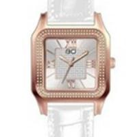 BOCCATI EDITION ! DIAMOND WATCH  ROSE-GOLD  STAINLESS STEEL LEATHER STRAPS