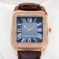 DAZZLING ! STYLISH COMBINED DIAMOND , WATER RESISTANT , LEATHER UNISEX WATCH