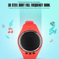 BRILLIANT ! BLUETOOTH SMART MUSIC SPORTS BRACELELET SPEAKER WATCH FOR IOS ANDROID