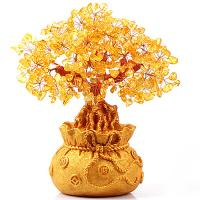 SUPERB ! NATURAL CITRINE CRYSTAL LUCKY TREE TO ATTRACT WEALTH