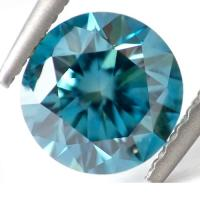 1.00 CT GENUINE BLUE DIAMOND ROUND CUT LOOSE