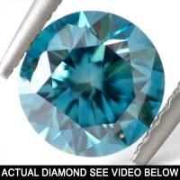 1.00 CT COLUMBIA BLUE DIAMOND ROUND CUT LOOSE