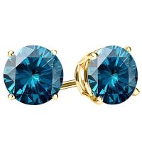 PRECIOUS ! 1/4 CARAT DIAMOND 14KT SOLID GOLD EARRINGS STUD