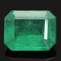 (PRIVATE LOT#87014) TRANSPARENCY RICH GREEN EMERALD (VS-SI) ORIGIN COLOMBIA 7 X 9 MM (UNHEATED & UNTREATED)