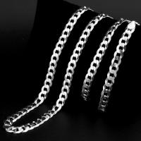 IDEAL ! PURE 925 ITALY STERLING SILVER CURB MENS CHAIN