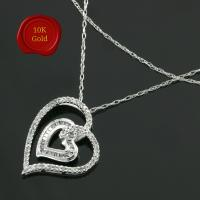 FOXY ! 1/3 CARAT DIAMOND 10KT SOLID GOLD NECKLACE