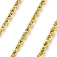 AWESOME ! 20 INCHES 0.4MM 10KT SOLID GOLD ROPE NECKLACE