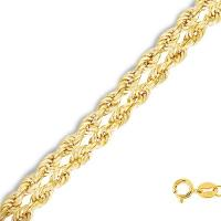 20 INCHES 0.5MM 10KT SOLID GOLD ROPE NECKLACE