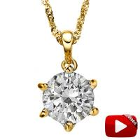CHARMING ! 1 1/5 CARAT DIAMOND 14KT SOLID GOLD PENDANT (STOCK IMAGE, SEE DESCRIPTION)