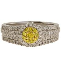 (CLOSEOUT #618) FINE JEWELRY (SI-I1) DIAMOND 14KT SOLID GOLD RING (SIZE 6.5)