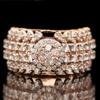 (CERTIFIED LOT 61154) NATURAL DIAMOND (VS) 18K YELLOW GOLD RING (SIZE 7 US)