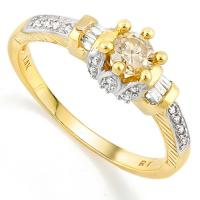 CHARMING ! 1/2 CARAT (27 PCS) DIAMOND SOLITAIRE 14KT SOLID GOLD ENGAGEMENT RING