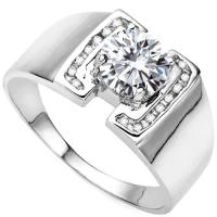 RING SIZE 9 ! 1/4 CT DIAMOND MOISSANITE & 1/5 CT DIAMOND (VS CLARITY) 10KT SOLID GOLD ENGAGEMENT MENS RING