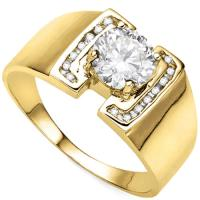 RING SIZE 9 ! 1/2 CARAT (17 PCS) DIAMOND (VS) 14K SOLID GOLD ENGAGEMENT RING