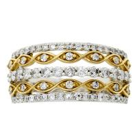 (CLOSEOUT #289) FINE JEWELRY (I1) DIAMOND 14KT SOLID GOLD RING (SIZE 7)