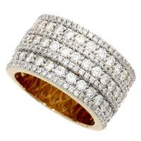 (CLOSEOUT #12) FINE JEWELRY (SI-I1) DIAMOND 10KT SOLID GOLD RING (SIZE 7 US)