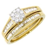 (CLOSEOUT #14) FINE JEWELRY (SI-I1) DIAMOND 14KT SOLID GOLD RING (SIZE 7 US)