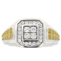 (CLOSEOUT #92) FINE JEWELRY (SI-I1) DIAMOND 10KT SOLID GOLD RING (SIZE 10 US)