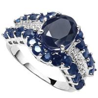 5.23 CT SAPPHIRE & DIAMOND (VS CLARITY) 10KT SOLID GOLD RING