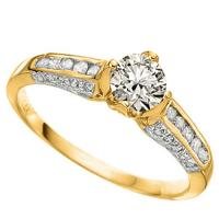 1/2 CT DIAMOND (VS CLARITY)  SOLITAIRE 14KT SOLID GOLD ENGAGEMENT RING