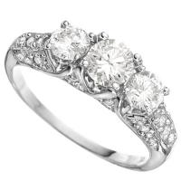 1.18 CT LAB CREATED DIAMOND (VS) 14KT SOLID GOLD ENGAGEMENT RING (TOP QUALITY)