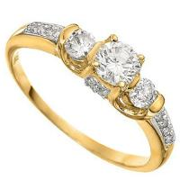 1/2 CT DIAMOND (VS CLARITY) 14KT SOLID GOLD ENGAGEMENT RING
