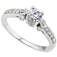 1/2 CT DIAMOND MOISSANITE & 1/4 CT DIAMOND SOLITAIRE 14KT SOLID GOLD ENGAGEMENT RING (TOP QUALITY)