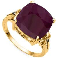 SUPERB ! 7 CARAT AFRICAN RUBY & DIAMOND 10KT SOLID GOLD RING