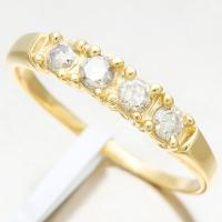 PRETTY ! 2/5 CARAT DIAMOND 14KT SOLID GOLD ENGAGEMENT RING