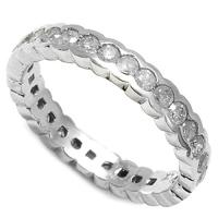 1.08 CT DIAMOND (VS CLARITY) 14KT SOLID GOLD ETERNITY RING