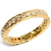 1.18 CT CHOCOLATE DIAMOND 14KT SOLID GOLD ETERNITY RING