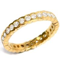 1.14 CT DIAMOND (VS CLARITY) 14KT SOLID GOLD ETERNITY RING