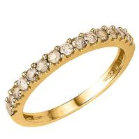 1/2 CT CHOCOLATE DIAMOND 14KT SOLID GOLD BAND RING