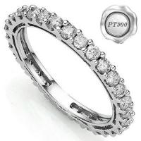PLATINUM RING ! 1.00 CT GENUINE DIAMOND (VS CLARITY) PT900 ETERNITY RING