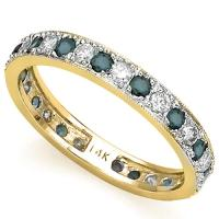 VS CLARITY ! 1.00 CT DIAMOND 14KT SOLID GOLD ETERNITY RING