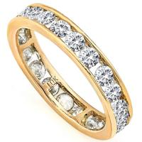 VVS CLARITY ! 1.50 CT DIAMOND MOISSANITE 10KT SOLID GOLD WEDDING RING